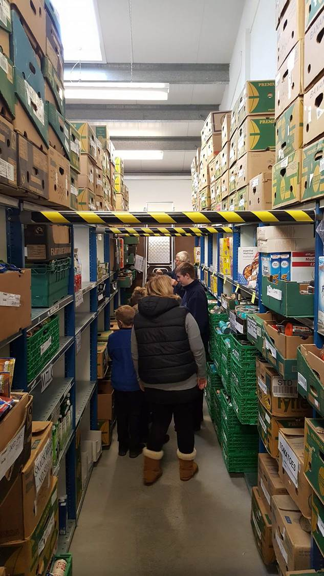 Cloughwood return to Mid Cheshire Foodbank
