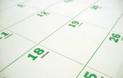2018/19 Academic year dates