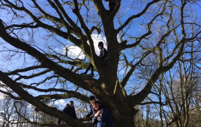 Outdoor learning in the sun, snow and rain.